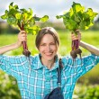 Healthy organic vegetables - woman gardener — Stock Photo #50464633