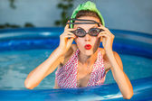 Beauty summer pinup girl — Stock Photo