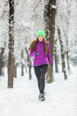 Kolejny kobieta zima — Zdjęcie stockowe