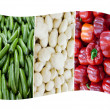 Stock Photo: Italy National Flag made of Cucumbers, Potatoes and Red Bell peppers