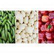 Italy National Flag made of Cucumbers, Potatoes and Red Bell peppers — Stock Photo