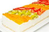 Fruit Cheesecake — Stock Photo
