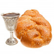 Challah and Kiddush cup — Stock Photo #43085455