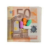Euro Currency and Pills — Stock Photo