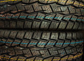 New Car tires profile background — Stock Photo