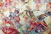 Israeli shekel notes background — Zdjęcie stockowe