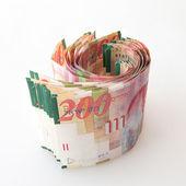Fond de notes shekel israélien — Photo