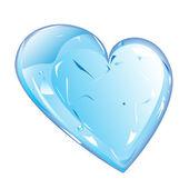 Heart of ice — Stock Photo