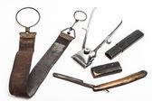 Vintage barber tools — Stock Photo