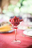 Raspberry сocktail — Stock Photo