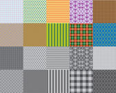 Set of 10 seamless patterns - Illustration — Stock Vector