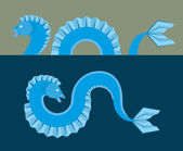 Sea monster - flat design — Stock Vector