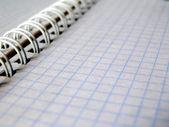 Biały notebook — Zdjęcie stockowe