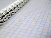 Vit notebook — Stockfoto