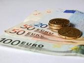 Bills and money euro — Stock Photo
