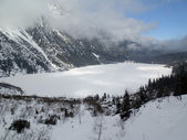 Frozen lake morskie oko — Foto Stock