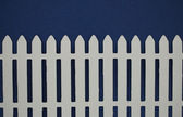White picket fence paper cut out — Stock Photo