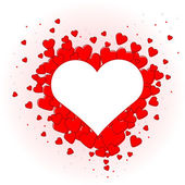 Pretty red hearts for valentines day — Stock Vector