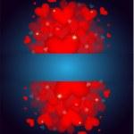 Many beautiful valentine's hearts — Stock Vector