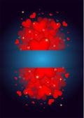 Many beautiful valentine's hearts — Stock vektor