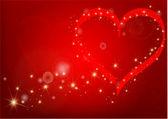 Pretty red valentine's hearts — Stock Vector