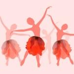 Nice girls dancing ballet — Stock Vector