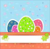 Pretty and nice easter eggs — Stock Vector
