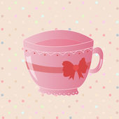 Nice morning pink tea — Wektor stockowy