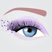 Ницца цветные глаза для партии — Cтоковый вектор