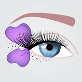 Nice purple eye for party — Stock Vector