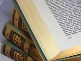 Pitched Antique book — Stock Photo