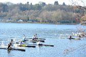 Canoe race — Стоковое фото