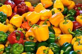 Yellow peppers, green and red — Foto Stock
