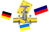 Gas pipeline Russia, Ukraine Germany — Stock Photo