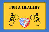 For a healthy heart — Foto de Stock