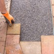 Lay paving stones — Stock Photo #46489453
