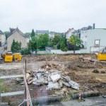 Demolition, pile of rubble, construction site — Stock Photo #47608439