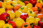 Rosso, verde e peperoni gialli — Foto Stock