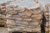 Sandstones on pallet — Stock Photo
