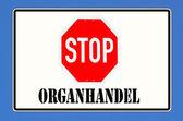 Stopt orgaanhandel — Stockfoto