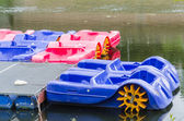 Pedal boat rental in Essen Werden — Stock Photo