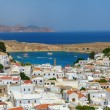 Rhodes - Greece. View on the beautiful bay of Lindos — Stock Photo #41256319