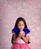 Valentine's Day girl — Stock Photo