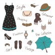 Womans accessories — Vector de stock #39264833