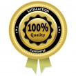 Satisfaction guarantee gold vector label. eps 10 — Stock Vector #39647753