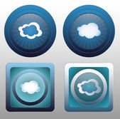 Vector cloud icon. eps 10 — Stock Vector