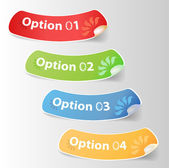 Set of colorful Vector sticker. eps 10 — Stok Vektör