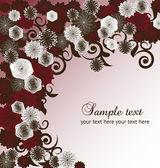 Vector floral achtergrond. eps 10 — Stockvector