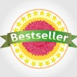 Cтоковый вектор: Bestseller vector label. eps 10
