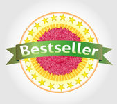 Bestseller vector label. eps 10 — Vector de stock